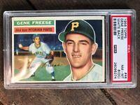 1956 Topps #46 Gene Freese Pittsburgh Pirates White Back PSA 8 NM-MT OC