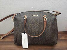 Brand New!! CALVIN Klein Handbag, Crossbody, Brown Monogram