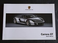 PORSCHE 2004 - 2005   CARRERA GT  CGT OWNERS MANUAL BOOK