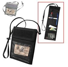 ID CARD PASSPORT HOLDER WITH NECK STRAP BLACK ROTHCO 1245