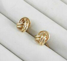 Vintage Earrings Love Knot Jewelry Fancy 1.9 Gm Solid 14K Yellow Gold Post