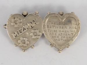 Antique Mizpah Brooch Sterling Silver Ladies Stunning 925 2.7g Hk20