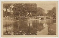 Gloucestershire postcard - The Lake showing East Bridge, Cheltenham - P/U 1915