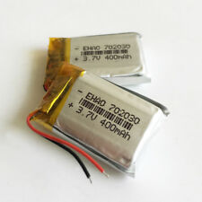 2 pcs 3.7V 400mAh lipo Rechargeable Battery For Mp3 headphone smart watch 702030