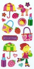 3D Epoxy Gel Stickers Fashion Girl  for Scrapbooking sticker Album school