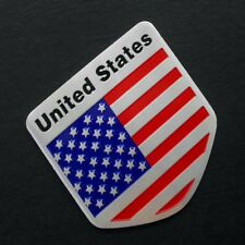 Badge Chrome Car Badge US USA American Flag Decals Sticker Alloy Metal Emblem