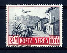 SAN MARINO - PA - 1950 - Veduta £. 100  con leggerissima traccia di linguella