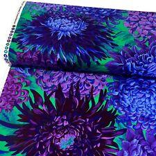1/2 Yard Kaffe Fassett Japanese Chrysanthemum Purple Quilting Fabrics