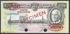 Angola 20$00 Escudos Specimen TDLR, 1962. UNC