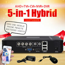 Security 4CH MINI AHD DVR NVR 5-IN-1 Hybrid P2P Mobile Phone View Video Recorder