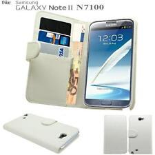 EDEL BOOK TASCHE für Samsung Galaxy Note 2 II N7100 Hülle Etui Case Cover Weiß