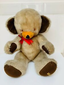"""Vintage Large 26"""" Merrythought Cheeky Teddy Bear With bell In Ear"""