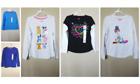 *NWT- HANES- GIRL GRAPHIC or SOLID LONG SLEEVE T-SHIRT - SIZE: XS, M, L