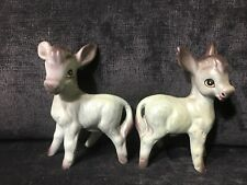 Vintage Anthropomorphic Donkey Salt And Pepper Shakers JAPAN (H-142)