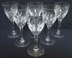 """NEW St  Saint Louis """"Chantilly"""" Cut Crystal 8 1/8"""" Wine Glass / Goblet 9 Avail!"""