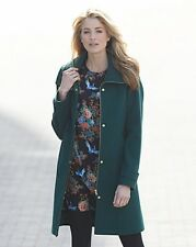 SimplyBe Knitted Collar Coat Green Size UK 12 rrp £36.75    SA170 AE 02