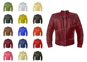 Genuine Leather Fast & Furious Inspired Motorbike Bomber Biker Style Jacket 513