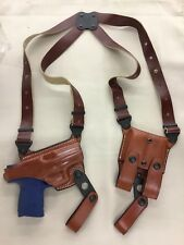 Leather Shoulder Holster - M&P Compact / 2.0, H&K USP Compact 9 /40 (# 9709 BRN)