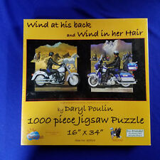 1000 PIECE PUZZLE - WIND AT HIS BACK - WIND IN HER HAIR - BY DARYL POULIN