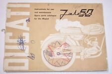 DUCATI FALCON 50 MOPED SPARE PARTS LIST CATALOG MAINTENANCE BOOK WORKSHOP