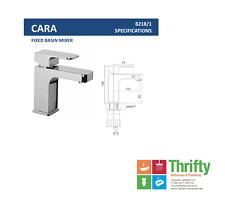 Clearance Novelli Cara Basin Mixer Chrome $191