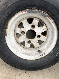 Mini Steel Wheels In White Need Repainting 10 Inch X 4