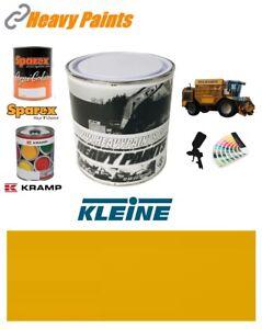 Kleine Machinery Yellow Paint High Endurance Enamel Paint 1 Litre Tin