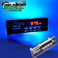 5-12V Blue Light MP3 Decoder Board Time Display Audio Module U-Disk TF Card FM