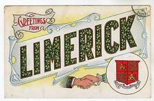 Limerick - Heraldic Postcard 1907 / Ireland