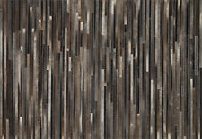 5'x7' Loloi Rug Promenade Cowhide Charcoal Hand Stitched Contemporary PO-03