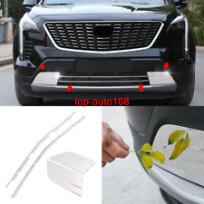 4X steel front bumper grill forming strip cover trim For Cadillac XT4 2019-2020