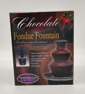 CHOCOLATE FONDUE FOUNTAIN ~ NOSTALGIA ELECTRICS - New in box