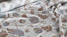 Scampoli di Taffetas bianco con stampa azzurra e nocciola (Violetta col.2)