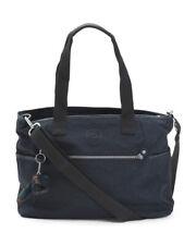 NEW Kipling Black Lizabeth Laptop Protection Tote Handbag Messenger Bag Unisex