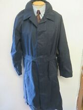 "Genuine Vintage Aquascutum Blue Raincoat Trenchcoat Mac Size 44"" R Euro 54 R"
