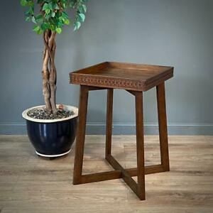 Attractive Occasional Side Square Table With Gallery Edge