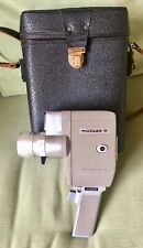 MIKADO REFLEX JAPAN AUTOMATIC ZOOM EIGHT 8MM CINE CAMERA IN LEATHER CASE WORKING