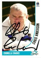 ✺Signed✺ 2003 CRONULLA SHARKS NRL Card CHRIS ANDERSON Daily Telegraph