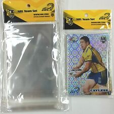 NRL Trading Card OPP Team Bags ) with Club logo Pack (50)-EELS- Clear& Neat