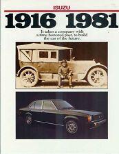 1981 ISUZU US Corporate Brochure Like HOLDEN TE GEMINI