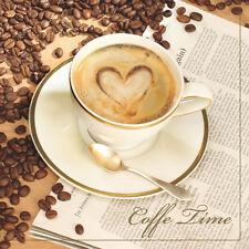 Servietten  Napkins 20 St. Pack.  Serviettentechnik  Kaffee mit Herz Tasse Liebe