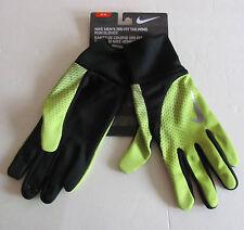 Nike Dri Fit Tailwind Running Gloves Black/Volt New w/Tags Men's Medium