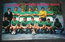 poster double page )) ASSE ST ETIENNE équipe 1967/68 Le 7eme Doublé