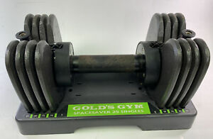 Gold's Gym Space Saver 25-Pound Adjustable Single Dumbbell 25 Lbs