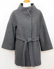ANN TAYLOR 100% Wool Gray Cape Coat Lined Wide Collar Bell Sleeves WOMEN'S Large