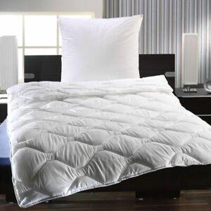 Bettenset Steppbett und Kissen Mikrofaser Kopfkissen Bettdecke 135x200 cm