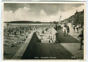 Ak Berlin Wannsee Strandbad Foto-Ak R. Lissner 1948 gelaufen 1953