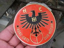 ADAC - ACW AUTOMOBIL ORTSCLUB WETZLAR - Plakette Badge Emblem Oldtimer