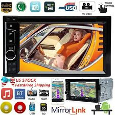 "Double Din Car Stereo 6.2"" DVD CD Touch Screen Radio Mirror Link For Android&IOS"