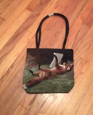 Red Fox Wildlife fox hunt hunter Ladies Handbag Purse tapestry SALE